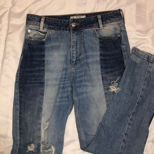 Free People two toned jeans size 27
